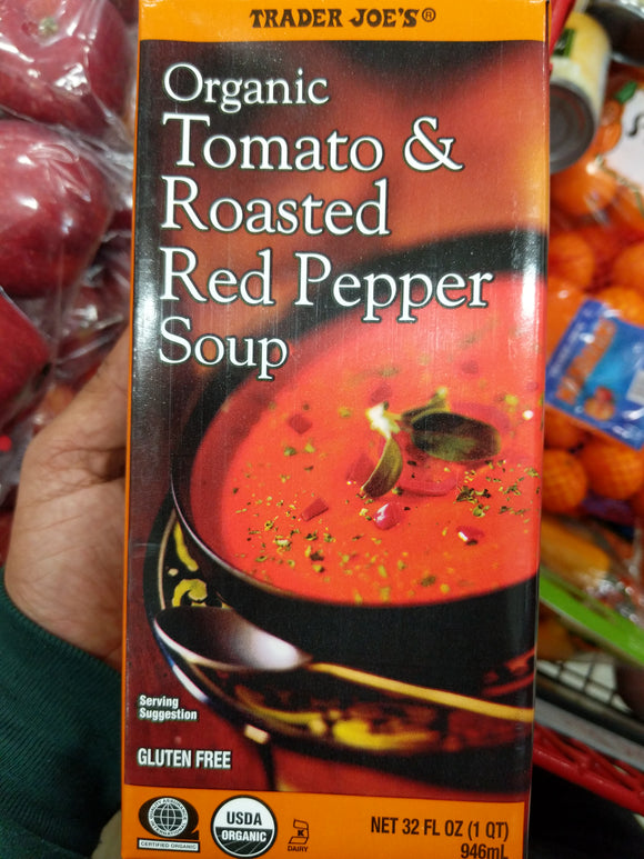 Trader Joe's Organic Tomato and Roasted Red Pepper Soup