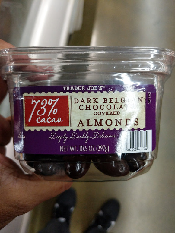 Trader Joe's Dark Belgian Chocolate Covered Almonds (73% Cacao)