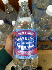 Trader Joe's Sparkling Mineral Water (Mixed Berry)