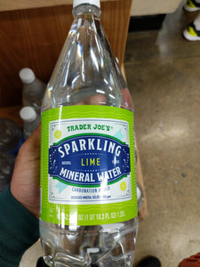 Trader Joe's Sparkling Mineral Water (Lime)