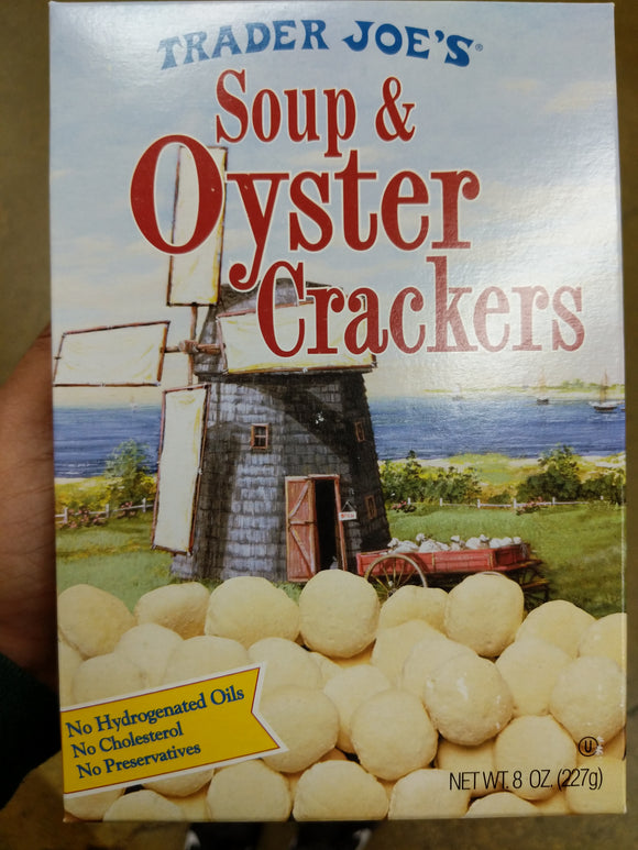 Trader Joe's Soup and Oyster Crackers