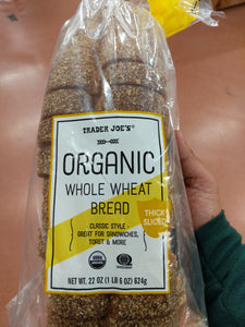 Trader Joe's Organic Whole Wheat Bread (Fat Free)