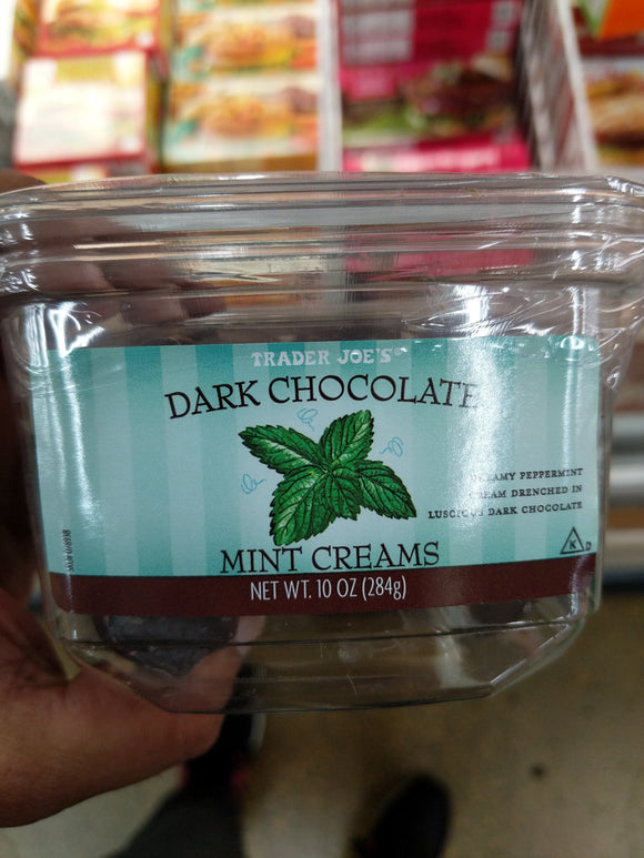Trader Joe's Dark Chocolate Mint Creams (Dreamy Peppermint Cream Drenched in Luscious Dark Chocolate)
