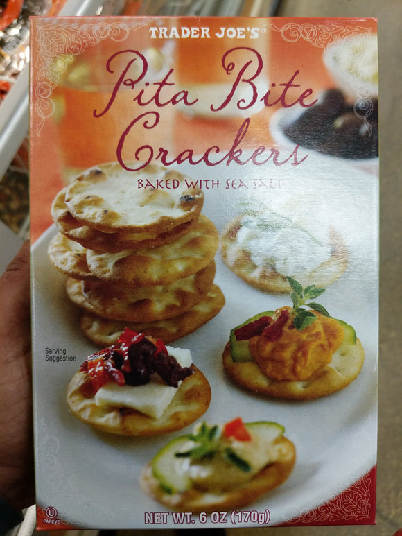Trader Joe's Pita Bite Crackers (Natural Baked with Sea Salt)