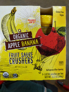 Trader Joe's Apple Banana Crushers Fruit Sauce