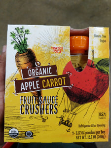 Trader Joe's Apple Carrot Crushers Fruit Sauce