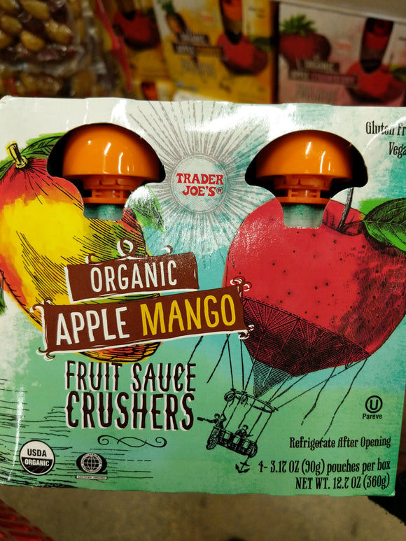 Trader Joe's Apple Mango Crushers Fruit Sauce