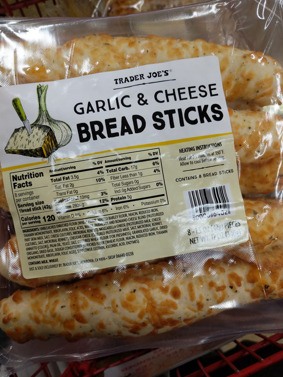 Trader Joe's Garlic and Cheese Breadsticks