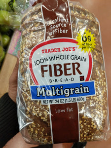 Trader Joe's 100% Whole Grain Fiber Whole Wheat Bread