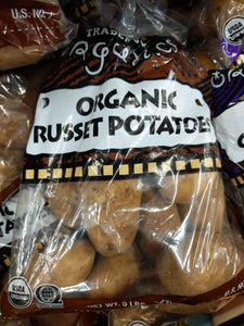 Trader Joe's Bag of Organic Russet Potatoes