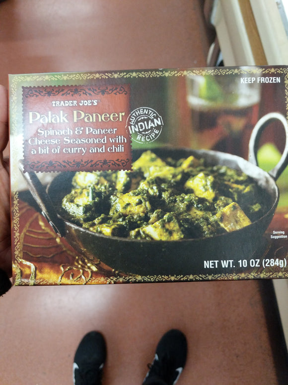 Trader Joe's Palak Paneer (Spinach and Paneer Cheese Seasoned with a Bit of Curry and Chili)