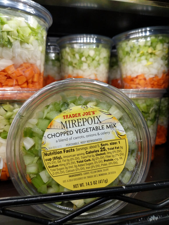 Trader Joe's Mirepolx (Chopped Celery, Carrots, and Onions)