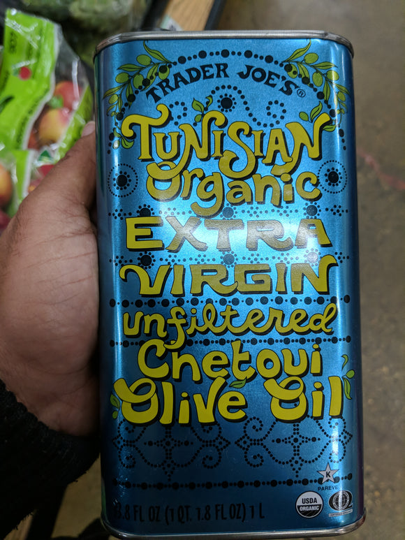 Trader Joe's Tunisian Organic Extra Virgin Unfiltered Chetoui Olive Oil