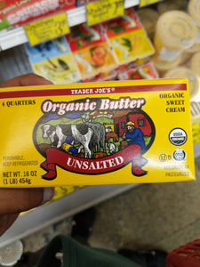 Trader Joe's Organic Butter Quarters (Unsalted)