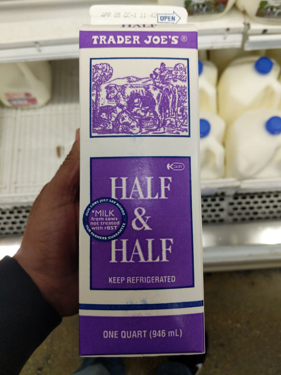 Trader Joe's Half and Half (Quart)