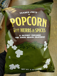 Trader Joe's Popcorn with Herbs and Spices