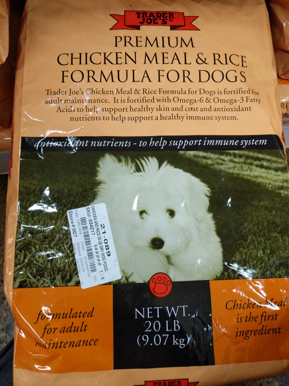 Trader Joe's Chicken and Rice Dry Dog Food