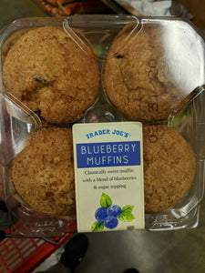 Trader Joe's Blueberry Muffins (4 Count, Kosher)