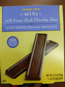 Trader Joe's 100 Calorie Chocolate Bar (70% Dark Chocolate) (Super Smooth Belgian Chocolate)
