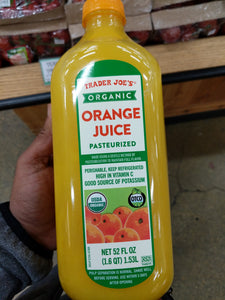 Trader Joe's Organic Orange Juice