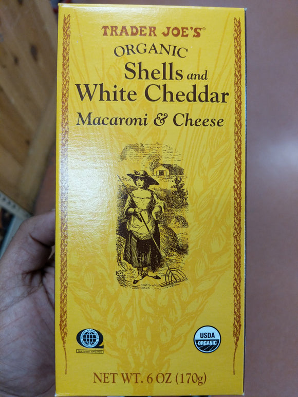 Trader Joe's Organic Shells White Cheddar Macaroni and Cheese