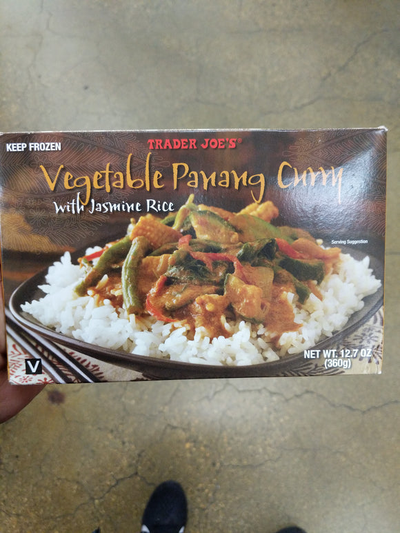 Trader Joe's Vegetable Panang Curry (with Jasmine Rice)