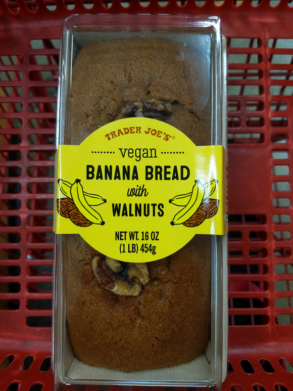 Trader Joe's Vegan Banana Bread with Walnuts