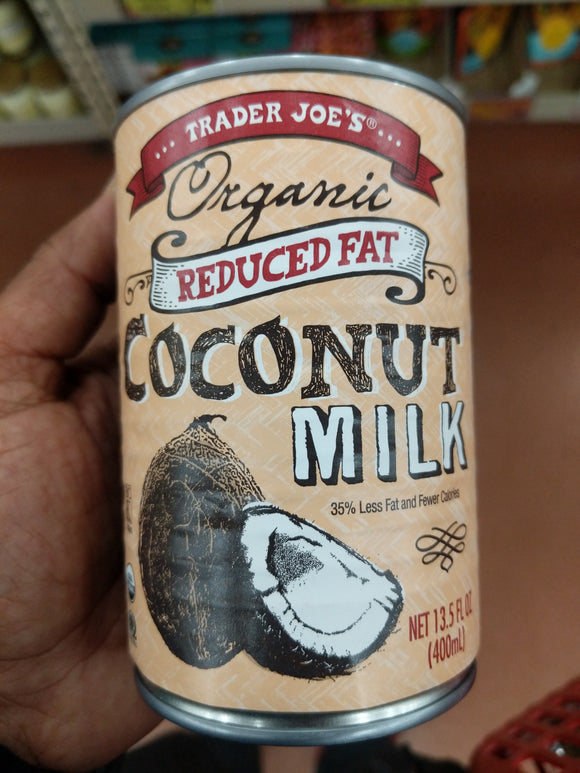 Trader Joe's Organic Reduced Fat Coconut Milk