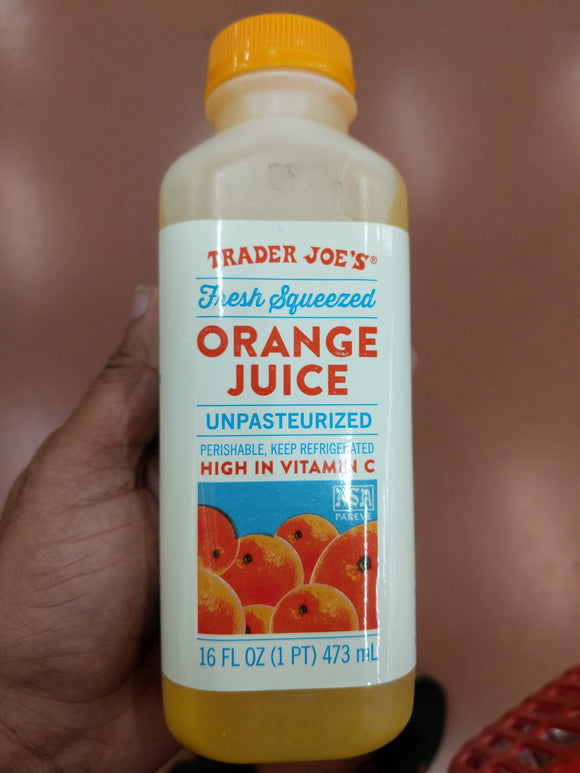 Trader Joe's Fresh Squeezed Orange Juice (16 oz.)