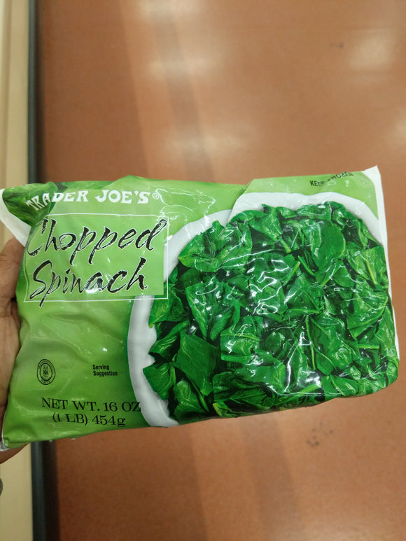 Trader Joe's Chopped Spinach (Frozen)