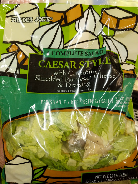 Trader Joe's Complete Caesar Salad Kit