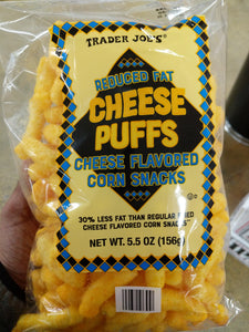 Trader Joe's Reduced Fat Cheese Puffs