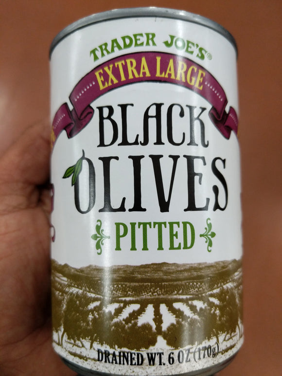 Trader Joe's Fancy Extra Large Ripe Pitted Black Olives
