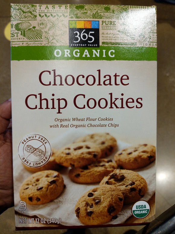 Whole Foods Organic Brands 365 Brand Chocolate Chip Cookies
