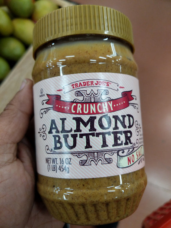 Trader Joe's Crunchy Unsalted Almond Butter