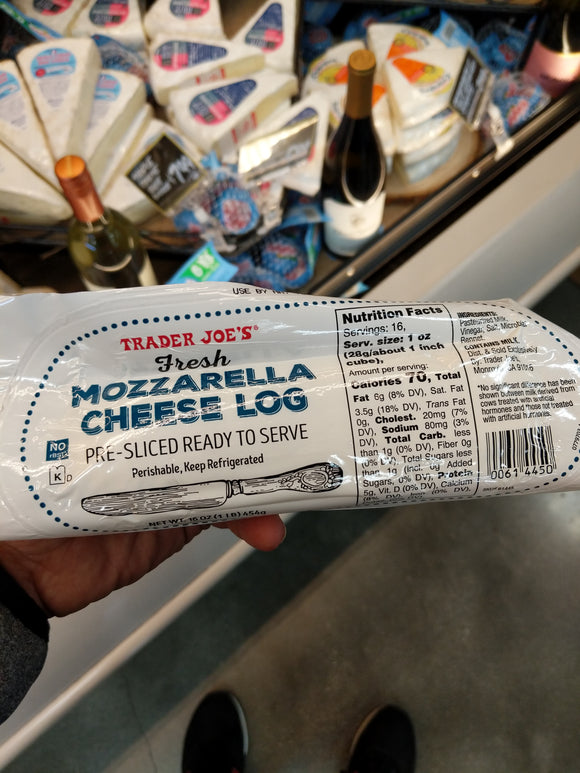 Trader Joe's Magically Sliced Fresh Mozzarella Cheese Log