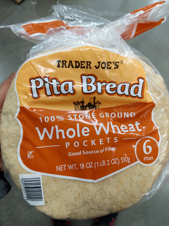 Trader Joe's Whole Wheat Pita Bread