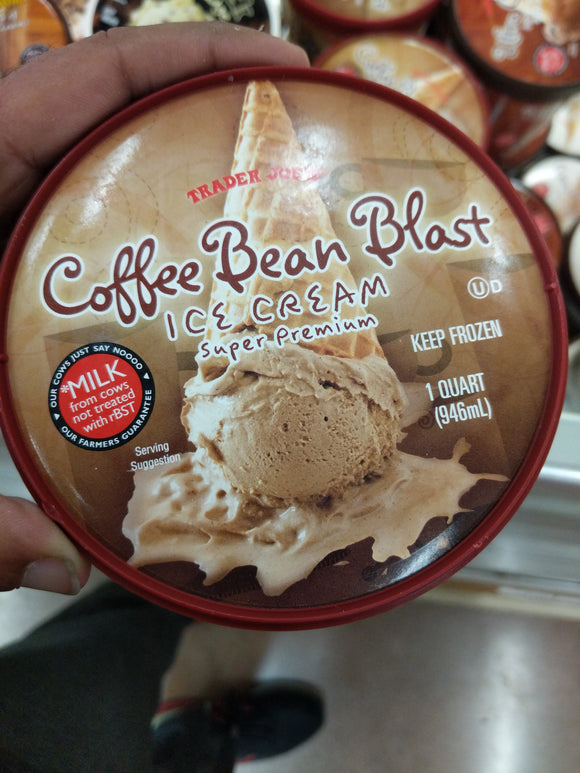 Trader Joe's Super Premium Coffee Blast Ice Cream