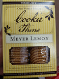 Trader Joe's Cookie Thins (Meyer Lemon)