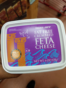Trader Joe's Fat Free Crumbled Feta Cheese