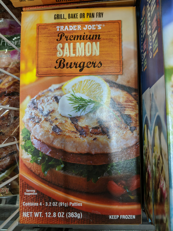 Trader Joe's Premium Salmon Burger Patties (4 Count)