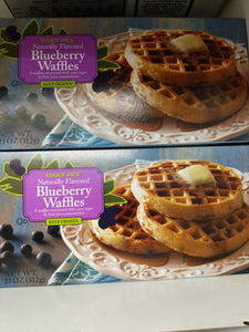 Trader Joe's Blueberry Waffles (Waffles Sweetened with Blueberry Puree, Fruit Juice Concentrate and Naturally Milled Sugar) (Frozen)