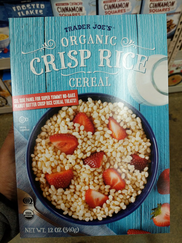Trader Joe's Organic Crisp Rice Cereal Lightly Toasted