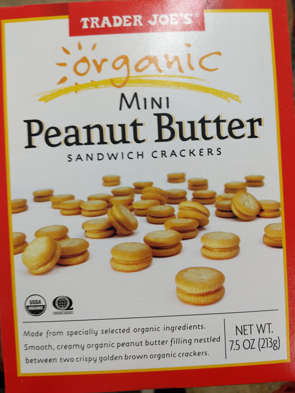 Trader Joe's Organic Mini Peanut Butter Sandwich Crackers