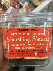 Trader Joe's Milk Chocolate Smashing S'mores (with Graham Crackers and Marshmallows)