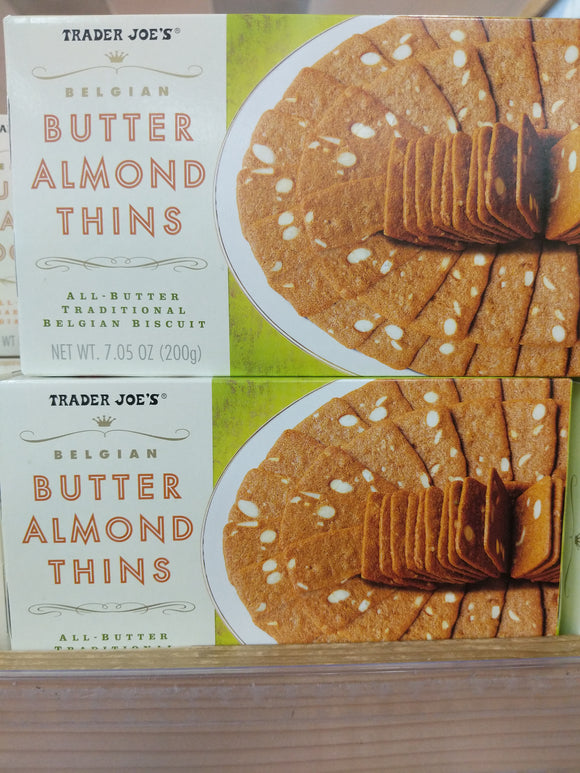 Trader Joe's Belgian Butter Almond Thins