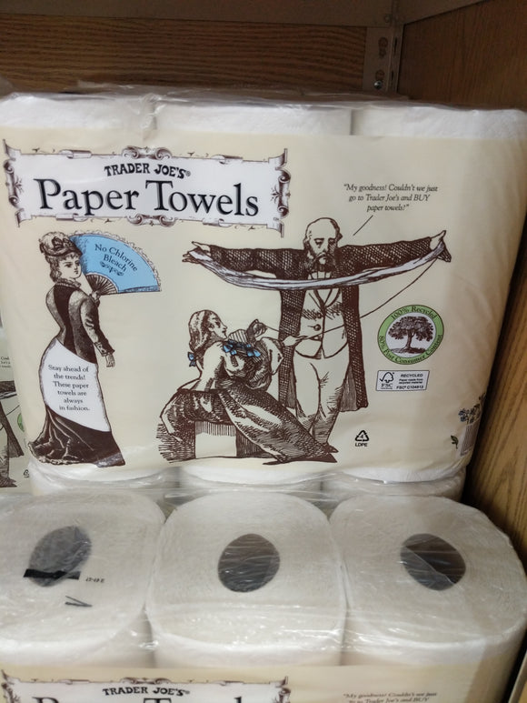 Trader Joe's Paper Towels (3 Rolls, 2 Ply 80 Sheet Roll)