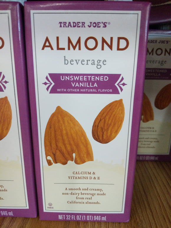 Trader Joe's Almond Smooth Non-Dairy Beverage (Vanilla, Unsweetened)