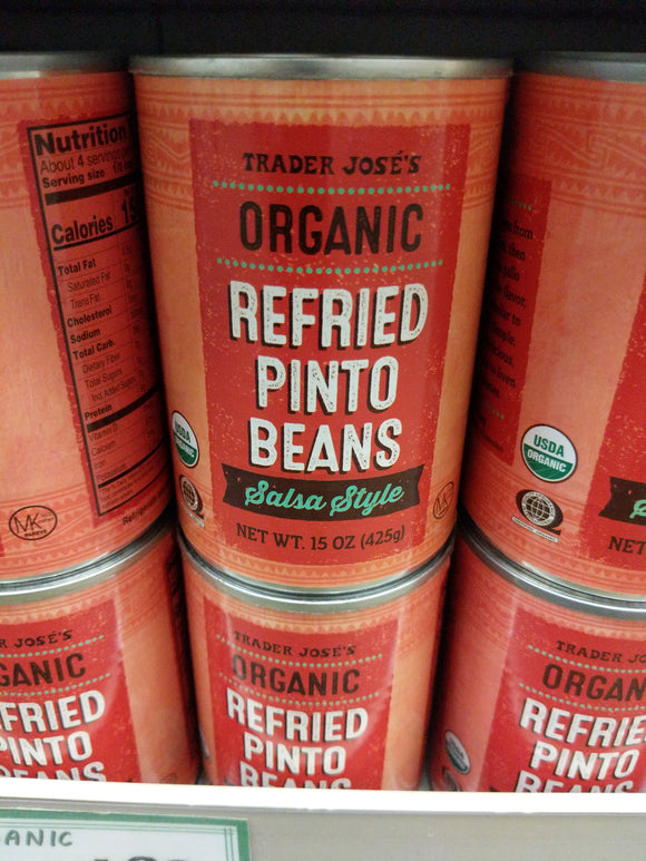 Trader Joe's Organic Low Fat Refried Pinto Beans