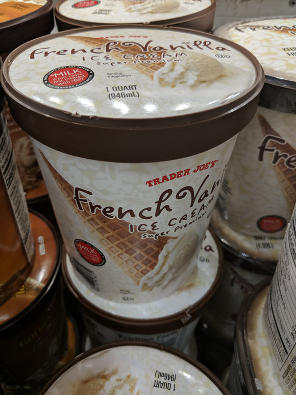 Trader Joe's Super Premium French Vanilla Ice Cream (Quart)